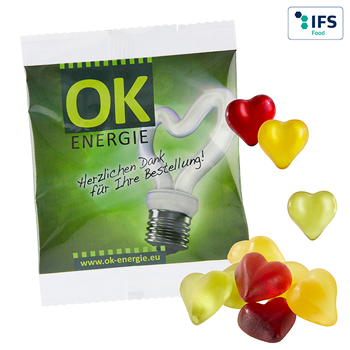 Fruit gum hearts (15 g)
