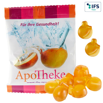 Fruit gum peaches with vitamins (20 g)